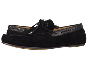Load image into Gallery viewer, Tomaz C318 Suede Leather Braided Loafers (Black) - Tomaz Shoes (756415791193)