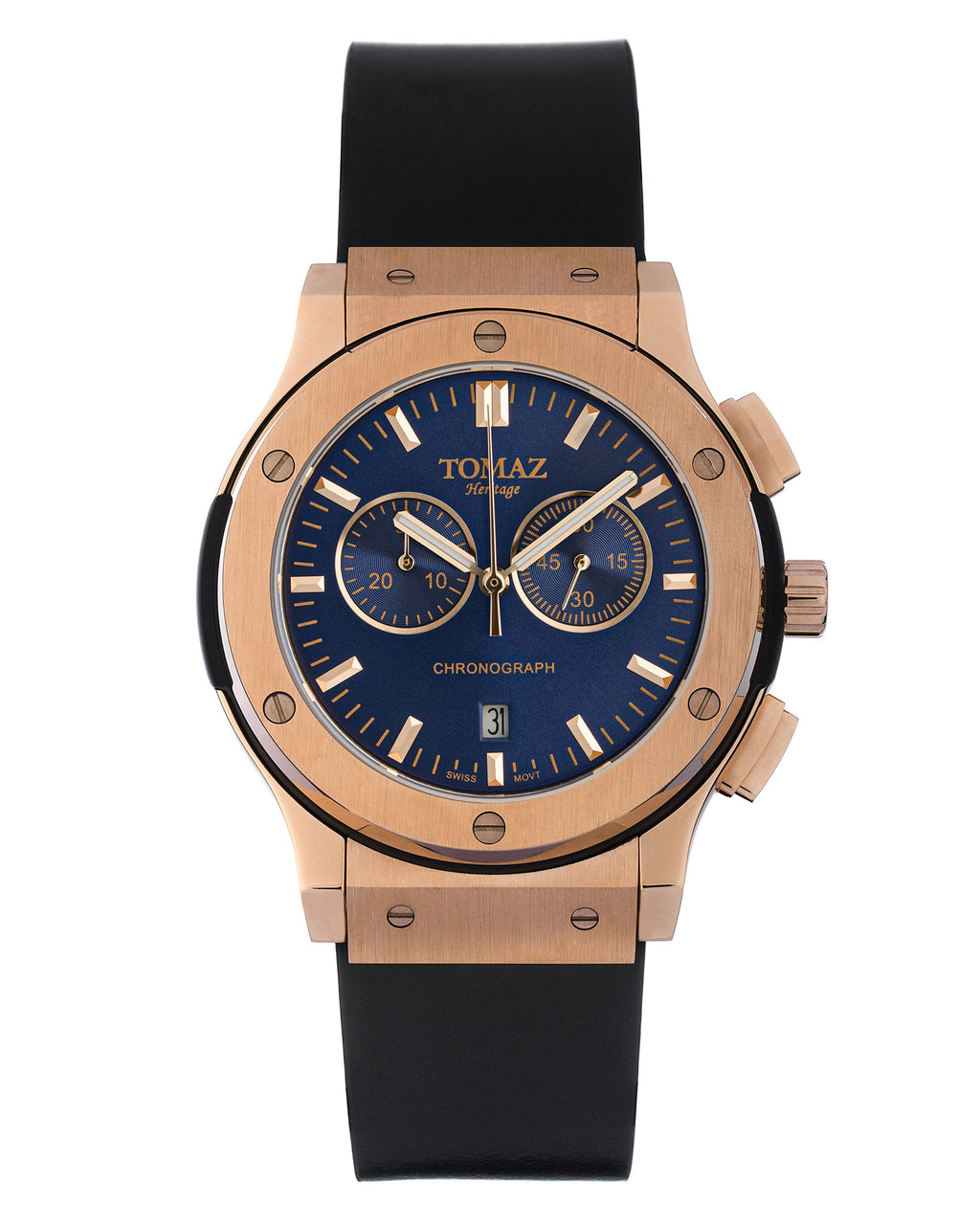 Tomaz Men's Watch TQ008 (Rose Gold/Blue)