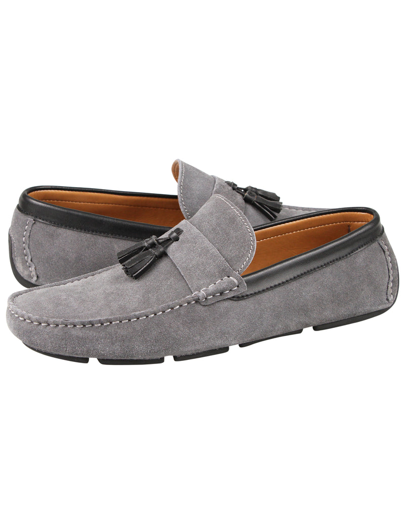 Load image into Gallery viewer, Tomaz C377 Tassel Moccasins (Grey) men's shoes casual, men's dress shoes, discount men's shoes, shoe stores, mens shoes casual, men's casual loafers men's loafers sale, men's dress loafers, shoe store near me.