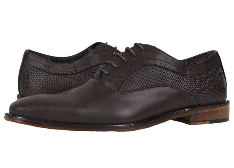Load image into Gallery viewer, Tomaz F174 Perforated Lace Up Formal (Coffee) - Tomaz Shoes (433353785373)