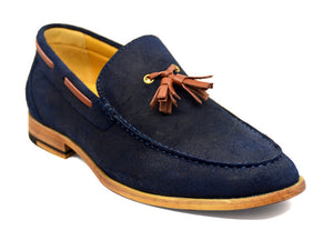 Load image into Gallery viewer, Tomaz C203 Tassel Loafers (Navy) - Tomaz Shoes (382141726749)