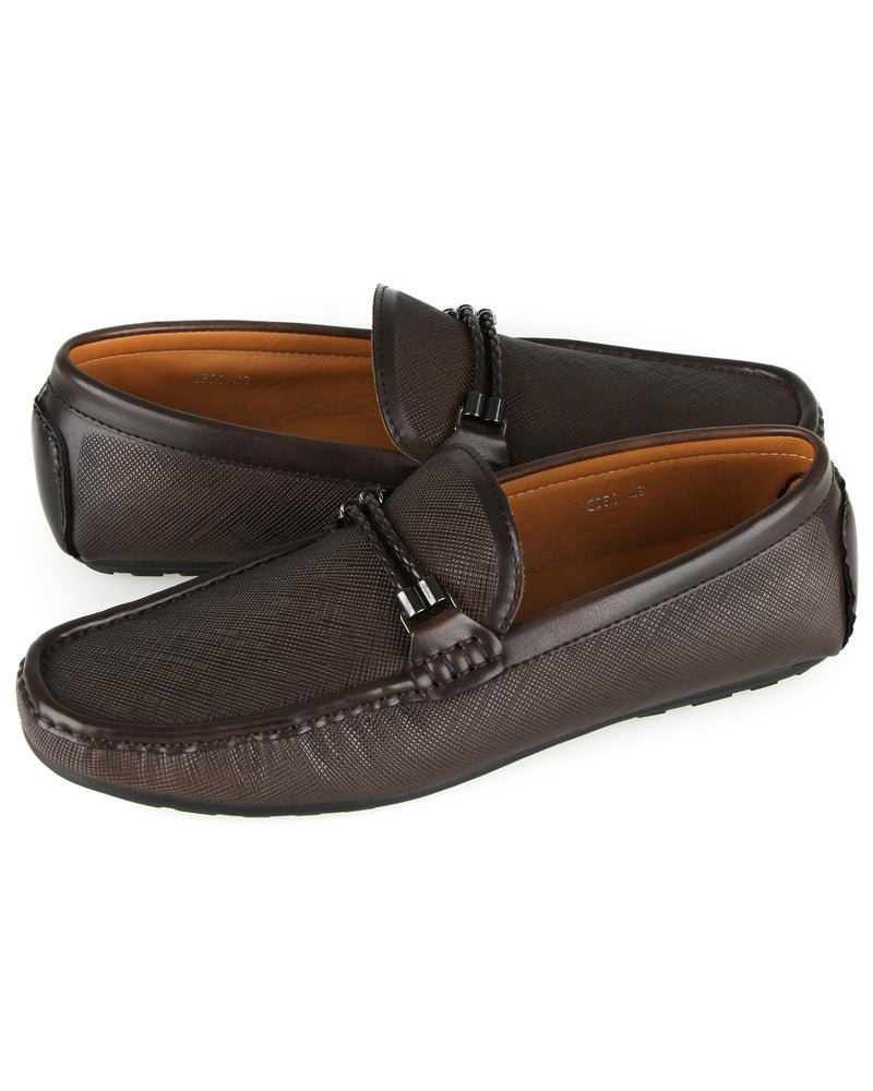 Load image into Gallery viewer, Tomaz C391 Braided Buckle Moccasins (Coffee) men's shoes casual, men's dress shoes, discount men's shoes, shoe stores, mens shoes casual, men's casual loafers men's loafers sale, men's dress loafers, shoe store near me.
