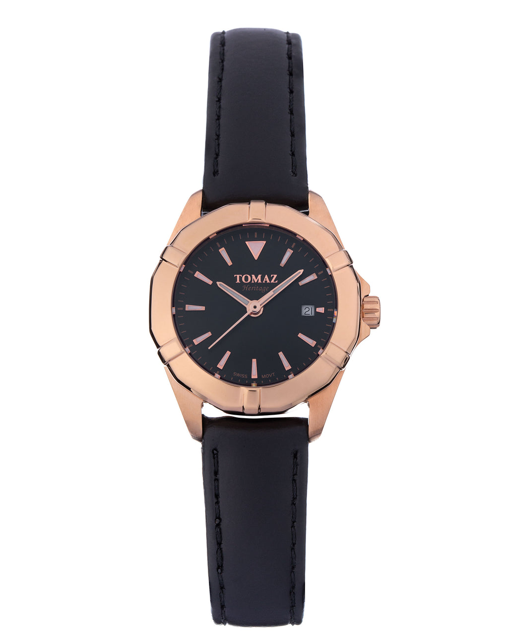 Tomaz Ladies Watch TQ009 (Rose Gold/Black)