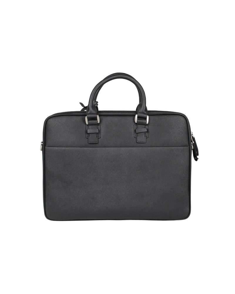 Tomaz NT28 Leather Office Bag (Black)