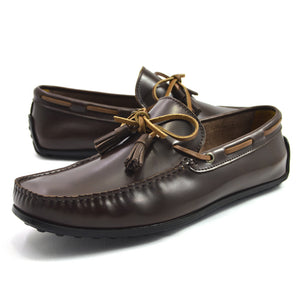 Tomaz  C192B Ribbon Tassel Moccasins (Coffee) - Tomaz Shoes