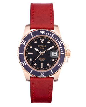 Load image into Gallery viewer, Tomaz Men's Watch GR01-G (Rose Gold/Purple/Black)