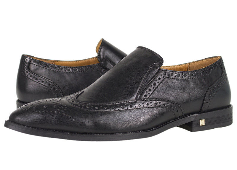 Load image into Gallery viewer, Tomaz F185 Formal Wingtip Brogues (Black) - Tomaz Shoes (782191657049)