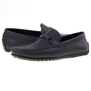Tomaz BF003 Perforated Buckle Loafers (Navy) - Tomaz Shoes