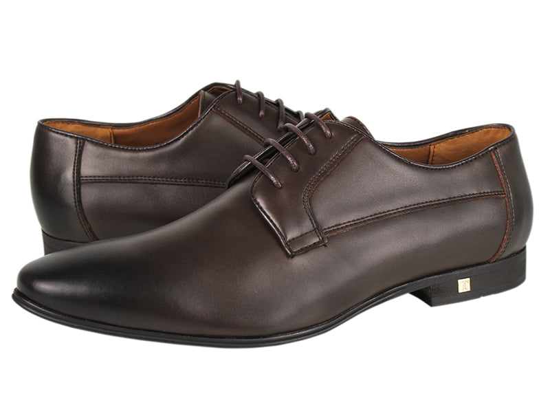 Tomaz F184 Lace Up Formal (Coffee) (1552847077465)