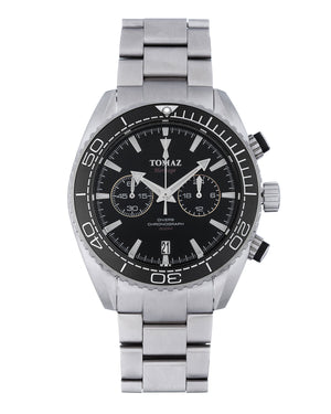 Load image into Gallery viewer, Tomaz Men's Watch TW012-D6 Stainless Steel (Silver/Black)