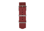 Tomaz 22mm Nylon Watch Strap (Red/Silver) - Tomaz Shoes (1318944374873)