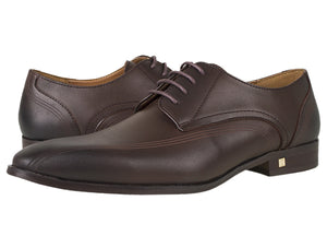 Tomaz F183 Lace Up Formal (Coffee) - Tomaz Shoes