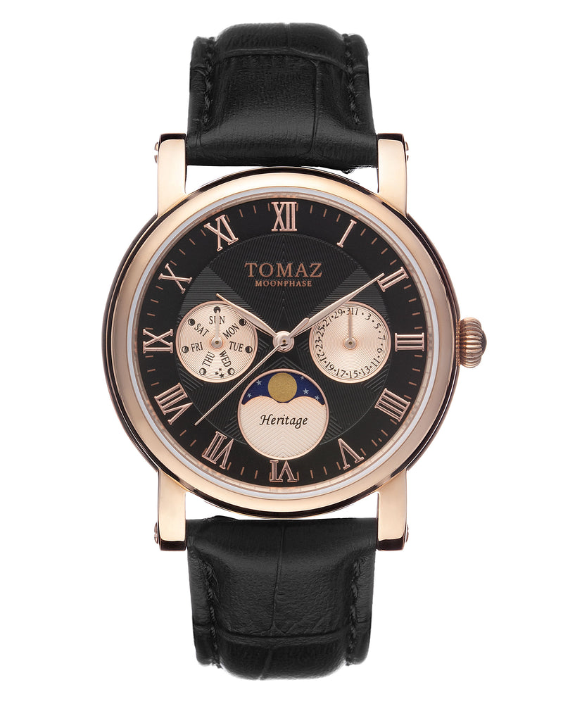 Tomaz Ladies Watch TQ007 (Rose Gold/Black) watches Malaysia, watches for women, watches online, Watches of Switzerland, Watches for sale online, simple watch, ladies watch, watch with Sapphire Crystal, Swarovski watch