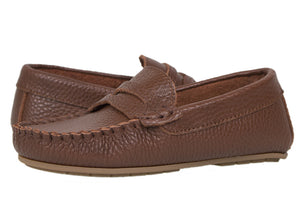 Tomaz C326 Penny Loafers (Brown) (Kids) - Tomaz Shoes