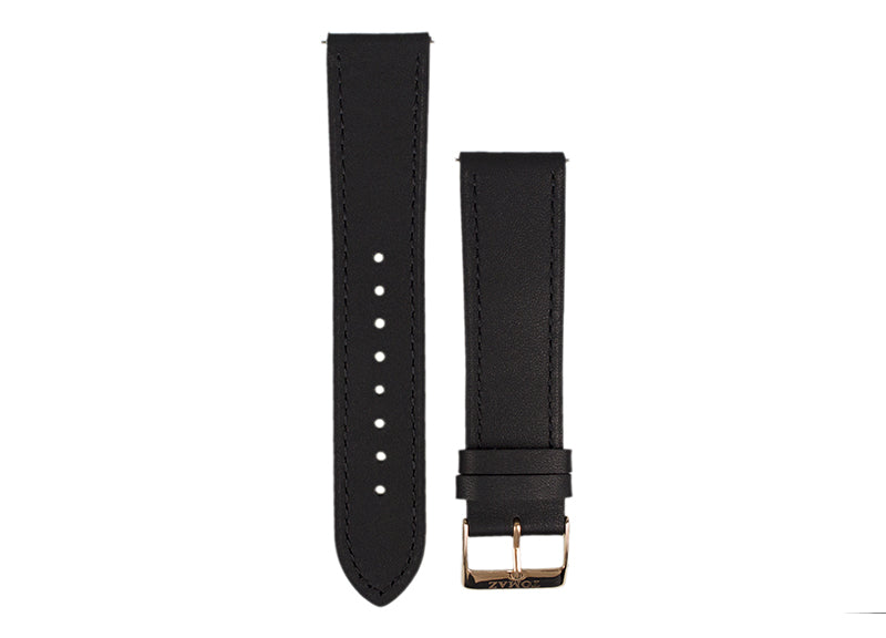Tomaz 22mm Leather Watch Strap (Black) - Tomaz Shoes (425767895069)