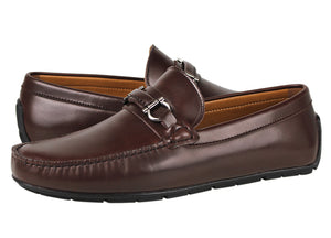 Tomaz C316 Front Buckled Loafers (Coffee) - Tomaz Shoes (1466768621657)