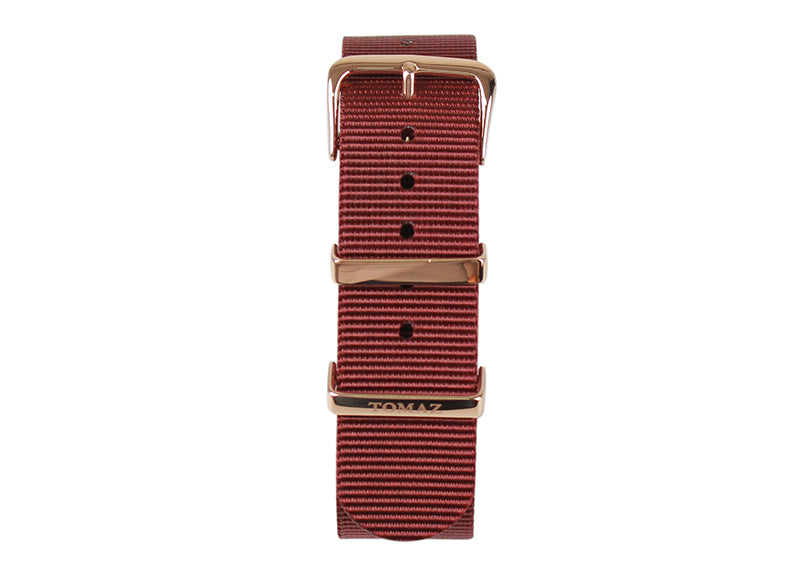 Tomaz 22mm Nylon Watch Strap (Red/Gold) - Tomaz Shoes (1318945161305)