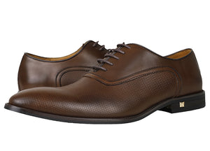 Load image into Gallery viewer, Tomaz F109 Perforated Lace Up Formal (Coffee) - Tomaz Shoes (782179172441)