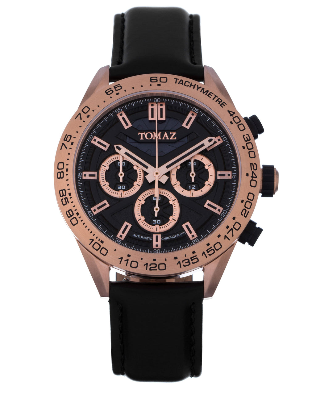 Tomaz Men's Watch TW011 D7 (RoseGold/Black)