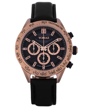 Load image into Gallery viewer, Tomaz Men's Watch TW011 D7 (RoseGold/Black)