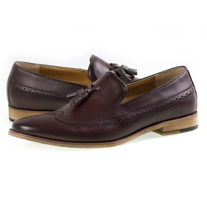 Load image into Gallery viewer, Tomaz F116 Tassel Loafers (Wine) - Tomaz Shoes (8716800264)
