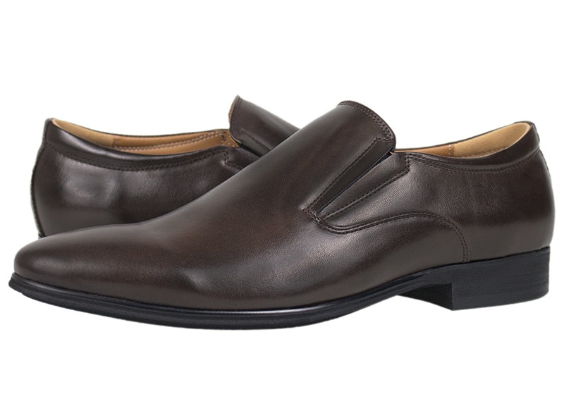 Load image into Gallery viewer, Tomaz F172 Formal Slip On (Coffee) - Tomaz Shoes (419767222301)