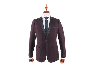 Tomaz 8113 Slim Fit Blazer (Burgundy) - Tomaz Shoes