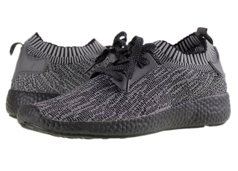 Tomaz TR004 Running Knit (Black.Grey) (274545967133)