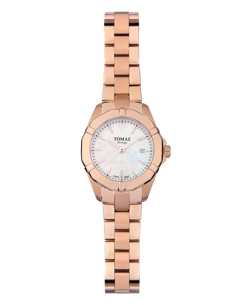 Tomaz Ladies Watch TQ009 (Rose Gold/Pearl) watches Malaysia, watches for women, watches online, Watches of Switzerland, Watches for sale online, simple watch, ladies watch, watch with Sapphire Crystal, Swarovski watch