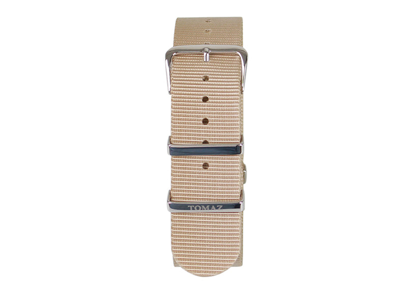 Tomaz 22mm Nylon Watch Strap (Beige/Silver) - Tomaz Shoes (1320106721369)
