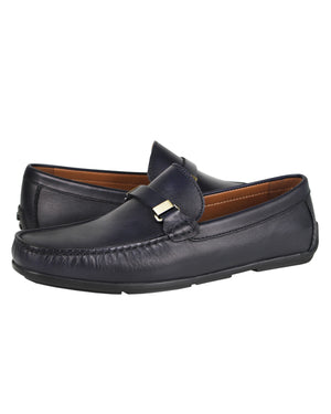 Load image into Gallery viewer, Tomaz C362 Front Buckled Loafers (Navy) men's shoes casual, men's dress shoes, discount men's shoes, shoe stores, mens shoes casual, men's casual loafers men's loafers sale, men's dress loafers, shoe store near me.