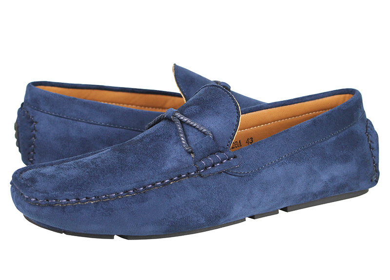 Load image into Gallery viewer, Tomaz C228A Bow Slip On (Navy) - Tomaz Shoes (336706011165)