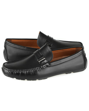 Load image into Gallery viewer, Tomaz C435 Buckle Moccasins (Black) men's shoes casual, men's dress shoes, discount men's shoes, shoe stores, mens shoes casual, men's casual loafers men's loafers sale, men's dress loafers, shoe store near me.