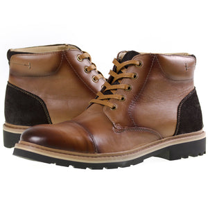 Tomaz C269 Cap-toe Boots (Brown) - Tomaz Shoes