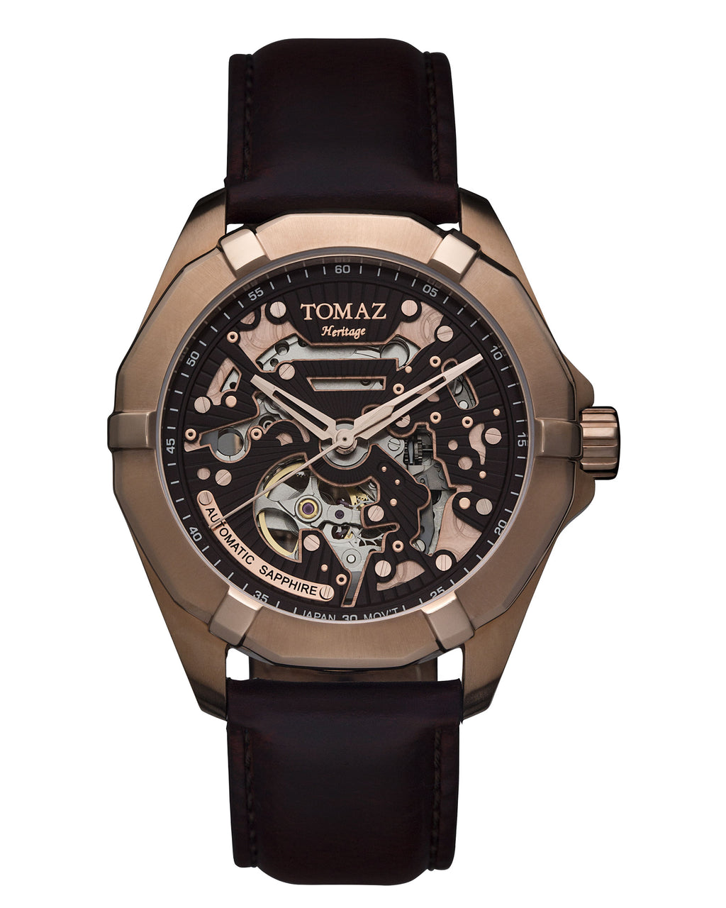 Tomaz Men's Watch TW009A - (Rose Gold/Coffee)