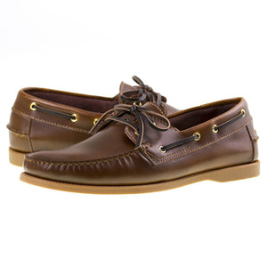 Tomaz BF001 Leather Boat Shoes (Brown) - Tomaz Shoes