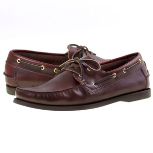 Load image into Gallery viewer, Tomaz BF001 Leather Boat Shoes (Wine) - Tomaz Shoes (8851992840)