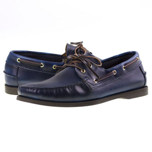 Tomaz BF001 Leather Boat Shoes (Navy) - Tomaz Shoes