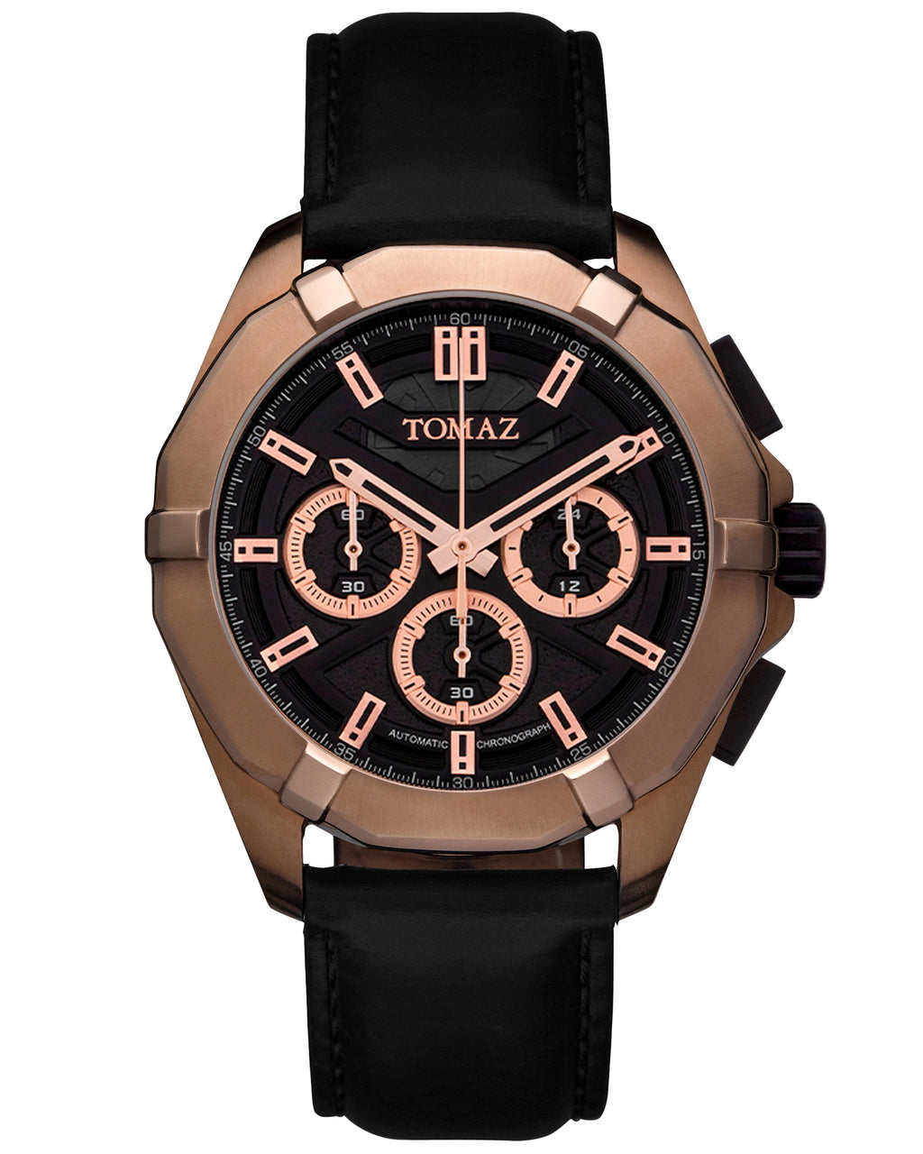 Tomaz Men's Watch TW009C (RoseGold/Black)