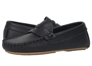 Tomaz C326 Penny Loafers (Black) (Kids) - Tomaz Shoes
