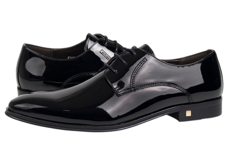 34fd7ae7758 Tomaz F165 Shiny Lace Up Formal (Black) - Tomaz Shoes