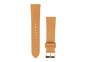 Tomaz 20mm Leather Watch Strap (Beige) - Tomaz Shoes