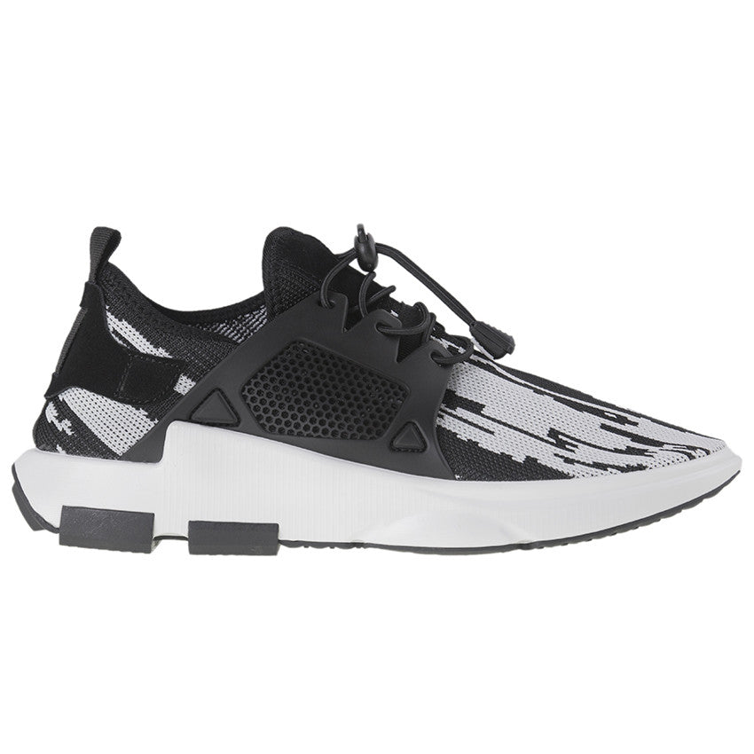 Tomaz 225 Running Knit (Black White) - Tomaz Shoes