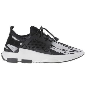 Load image into Gallery viewer, Tomaz 225 Running Knit (Black White) - Tomaz Shoes (9697623304)