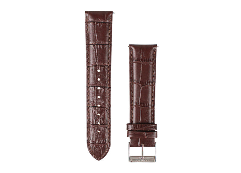 Tomaz 22mm Leather Watch Strap - Bamboo  (Wine) - Tomaz Shoes (1324181520473)