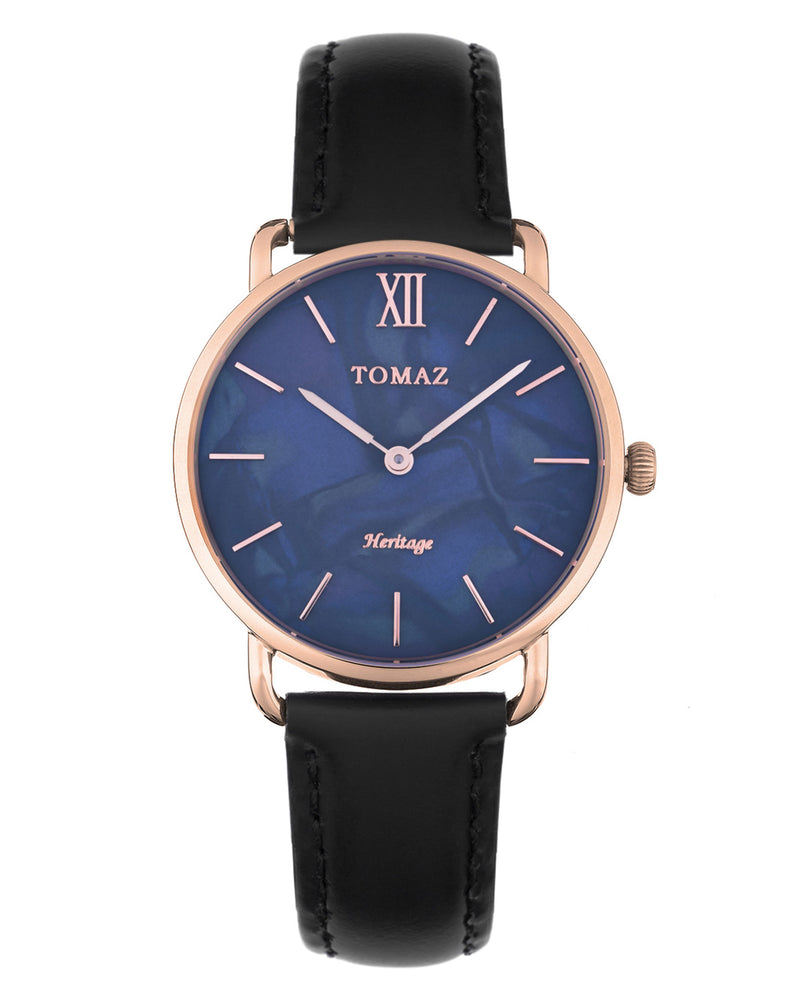 Load image into Gallery viewer, Tomaz Ladies Watch G1L-D1A (Rose Gold/Blue Marble)