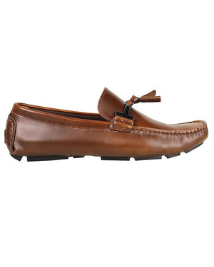 Tomaz C004A Buckled Tassel Loafers (Brown)