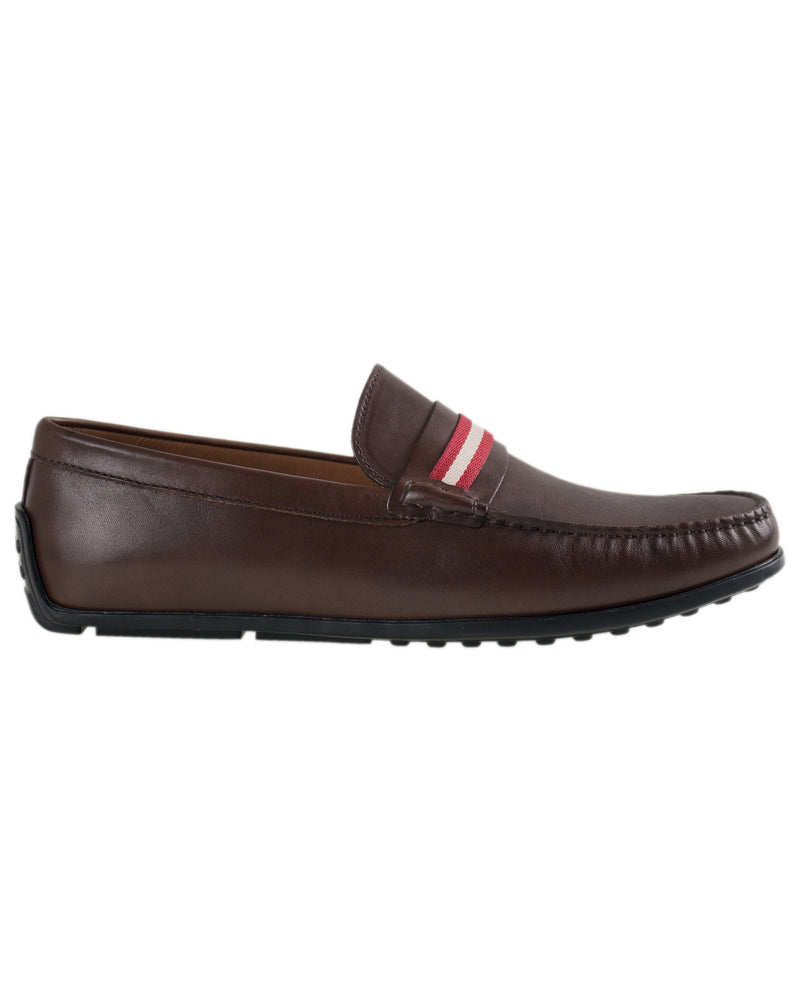 Tomaz C308 Striped Driving Moccasins (Coffee)