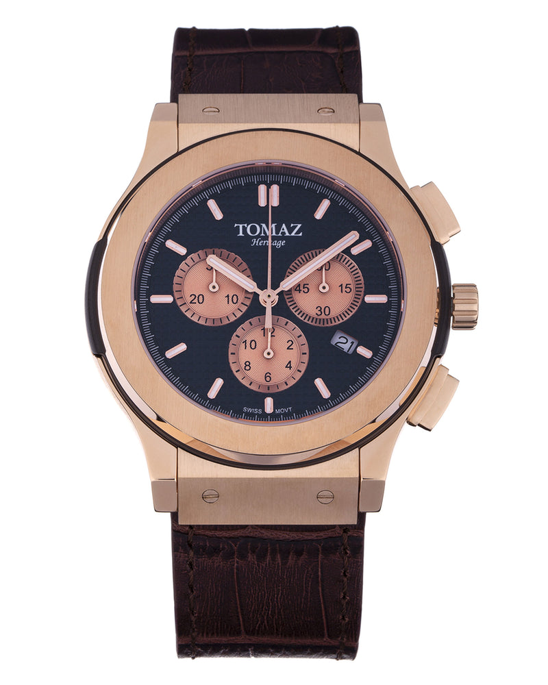 Load image into Gallery viewer, Tomaz Men's Watch TQ008B (Rose Gold/Navy) best men watch, automatic watch for men, Trending men watch, Luxury watch, Watches of Switzerland, automatic watch for men, jam tangan lelaki, jam tangan automatik, jam kronograf
