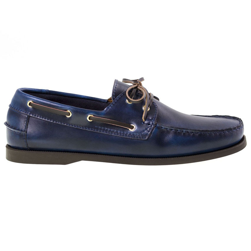 Tomaz BF001 Leather Boat Shoes (Navy) - Tomaz Shoes (8851990088)